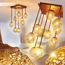Goldfarbene Flur Lampen Retro Decken Leuchten Wohn Schlaf Zimmer Beleuchtung