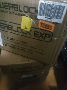 PowerBlock EXP Stage 1 Adjustable Dumbbell Set TWO!! DUMBELLS