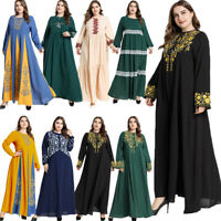 Women Muslim Abaya Kaftan Jilbab Maxi Dress Cocktail Party Fashion Dubai Dresses