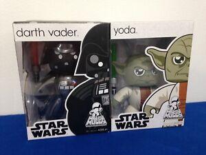HASBRO Star Wars MIGHTY MUGGS NEW SEALED IN BOX Yoda & Darth Vader LOT OF 2
