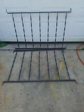 Vintage pair Wrought Iron Porch Railing - twisted Design - 42'' long 27 1/2''