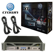 Crown XTI 6002 Series 2 Channel 3000W Stereo Amplifier with XLR Cables