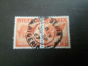 1967 NIGERIA USED STAMPS CAMEL TRAIN 1/3d