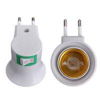 E27 250V Wall plug-in Screw Base Round Light Bulb Lamp Socket Holder Adaptor 1Pc