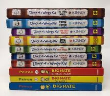 Big Nate Diary of A Wimpy Kid 1-7 Big Nate  Lot 10 Chapter Books Set