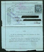 France pneumatic postal stationery lettercard 1881 50c RK3 'INONDATIONS' cachet