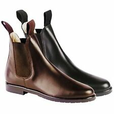 Loveson Hanover Jodhpur Boots In Black And Tan Available In Various Sizes