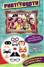 12 Photo Booth Selfie Props Posing Sticks Frame Kit Game Fun Ocassions Picture