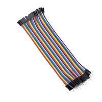 40 Stueck 1 Pin Stecker auf Buchse Bruecker-Kabel 20cm lang Q0L2