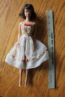 BARBIE DOLL Mattel 1962 Midge Doll with Summer Apple dress Vintage brunette