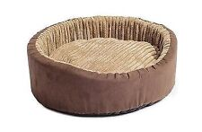 Ancol Sleepy Paws Timberwolf Oval Bed Faux Suede 75cm