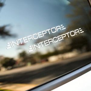 Aufkleber Set: Interceptor | versch. Farben | [2X] [50,0cm]