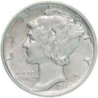 1942 Mercury Dime 90% Silver About Uncirculated AU