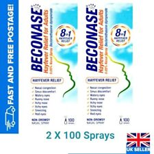 2 x Beconase 8 In 1 HAYFEVER Relief Nasal Spray For Adults