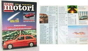 GENTE MOTORI - N. 2 - FEBBRAIO 1992 - ALFA 155, LANCIA DELTA, OPEL ASTRA 1400