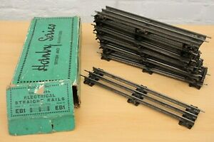 Box of 12 Vintage Hornby O Gauge Electric 3 Rail Straights EB1
