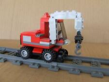 New Lego City Crane Loader Train Car Truck Custom Built w/ New Lego Bricks Parts