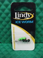 Lindy Ice Worm Fishing Lure Black Chartreuse Green #8 LIW836