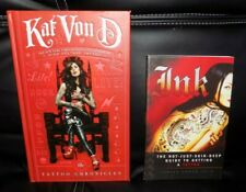 The TATTOO CHRONICLES by Kat Von D & INK - Set of 2 Tattoo Books !