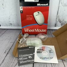 Vintage Microsoft Wheel Mouse IntelliPoint 3.0 Computer Mouse Window NT 98 PS2