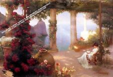On the Terrace Capri Artwork by Karl M. Schuster by Selby Prints