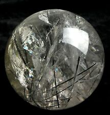 "3300g NATURAL ""black Tourmaline"" quartz crystal sphere ball healing"