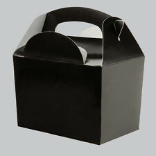Plain Solid Colour Party FOOD BOXES - Childrens Kids Birthday Loot Favour Bags