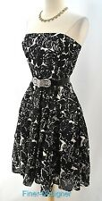The Limited Event Strapless Summer Dress Floral Lined fit and flare tiered Sz 6