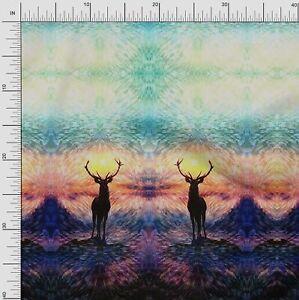 Soimoi Fabric Deer Panel Decor Fabric Printed BTY - PN-65A