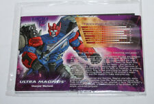 Transformers Botcon Ultra Magnus Shattered Tech Spec & Instructions Bio Card