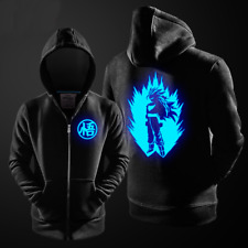 Anime Dragon Ball Son Goku Hoodie Jacket Thick Coat Luminous Zipper Sweater