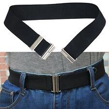 Women's Invisible Hidden Elastic Belt with Flat Buckle No Show no bulge belt