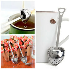 Stainless Steel Heart Shape Infuser Filter Strainer Tea Spice Ball Spoon New PAT
