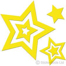 36 Pegatinas de Estrella Amarilla Calcomanías Para Coche | | Portada de pared t6
