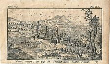 1768 CASTELNUOVO DI VAL CECINA Salmon Pisa Toscana acquaforte originale su rame
