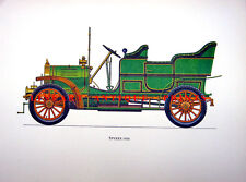 DUTCH NETHERLANDS HOLLAND SPYKER 1906 ~ RARE Old Color Large Car Art Print