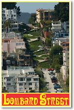 Lombard Street - San Francisco California  - Travel  POSTER