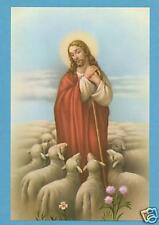 VINTAGE Catholic Large holy card JESUS GOOD SHEPHERD Postcard size