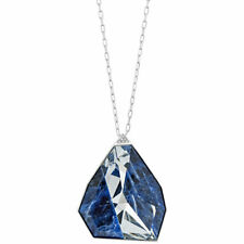 Collar colgante para mujer de arquitectura de Swarovski Plata Cristal Azul 5159053