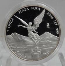 Mexico 2006 Silver PROOF Libertad 1 oz 999 1 Onza Plata Pura Coin C1674