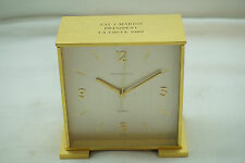 VINTAGE TIFFANY & CO CLOCK QUARTZ SWISS BRUSHED BRASS PRESENTATION DESK CLOCK