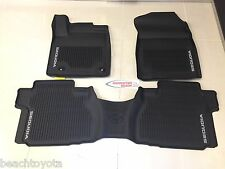 12-17 SEQUOIA OEM ALL WEATHER FLOOR LINER MATS (7 passenger w/o rear console)
