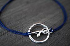 Pulsera De Plata Yoga Azul Cable * Yoga * Yoga Joyería * Regalo * árbol Pose De Yoga