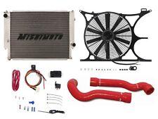MISHIMOTO BMW E30/E36 Radiator+Shroud+Fan+Hose+PROBE FAN CONTROLLER Kit RED