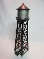HO SCALE WATER TOWER BLACK DOME WORKING SOLID RED LIGHT