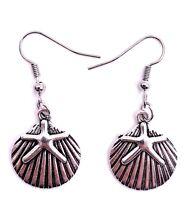 Muschel Seestern Meer Urlaub Ohrringe Ohrschmuck Anhänger Silber Metall