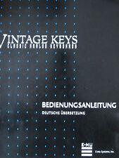 E-mu vintage keys manual de instrucciones sintetizadores original en alemán traducción