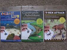 Ocean Life / Countryside Adventure / T-Rex Rub Down Transfer Activity Packs