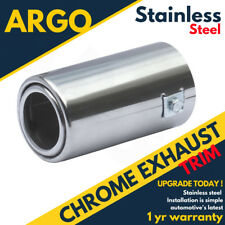 Chrome Polished Alloy Exhaust Tailpipe Tip Trim End Muffler Finisher Sport Cover