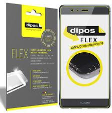 3x Huawei P9 Schutzfolie, 100% Displayabdeckung, dipos Flex Folie Displayfolie